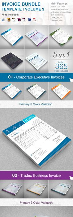 Official Proposal Template Invoices Bundle 5 In 1  Template Proposal Templates And Business .