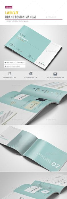 Brand Manual Landscape Brand manual, Brochure template and Brochures