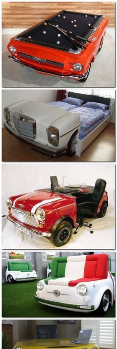 Classic Car Furniture | Classic Couches   Car Couches Made From Real Cars |  Furniture | Pinterest | Car Furniture, Cars And Men Cave
