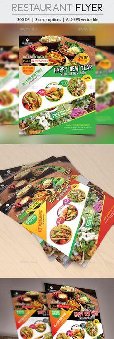 Indian Restaurant Flyer Template  Flyer Template Psd Templates