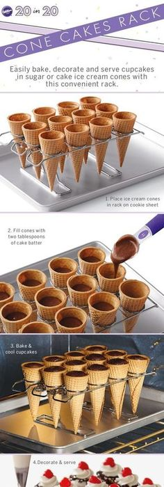Birthday Cake Ice Cream Cones You can bake cakes in the cones