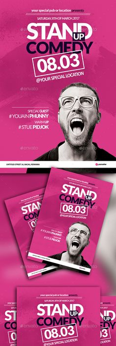Comedy Show Flyer Template  Flyer Template Template And Graphics
