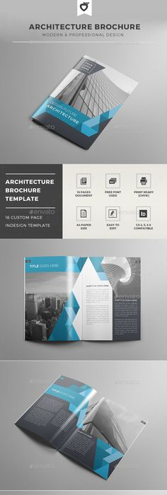Modern Architecture Brochure  Indesign Indd Clean Product