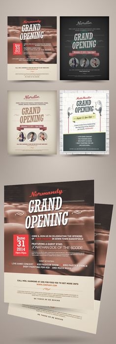 Free Grand Opening Flyer On Behance  Inspiration For Others