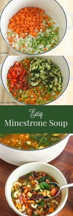 Easy 30-Minute Minestrone Soup (Better-Than-Olive-Garden-Copycat ...