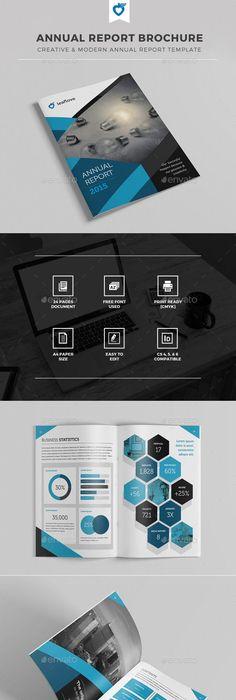 Free Annual Report Design Templates  Annual Report Brochure