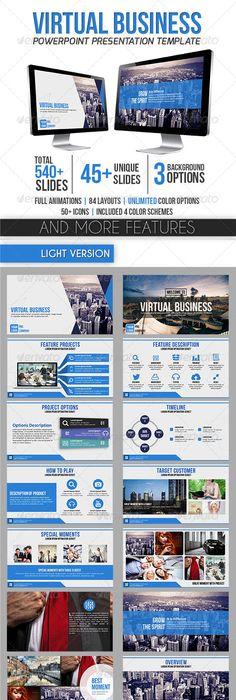 NEX - PowerPoint Template Business powerpoint templates, Template