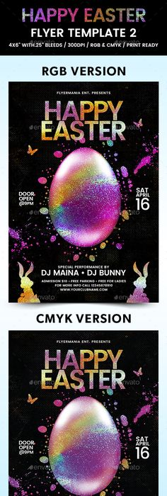 Easter Party Flyer Psd Templates - Creative Flyers Easter party
