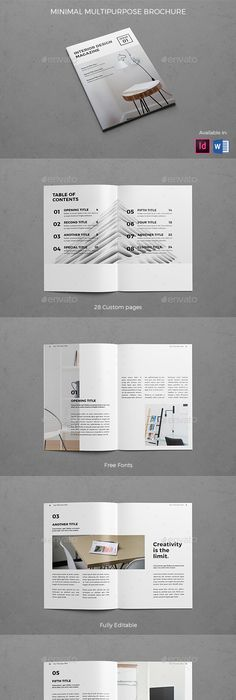 Modern Architecture Landscape Brochure Brochures, Brochure