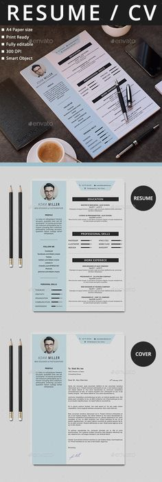 Dots Simple Modern Unique Resume Template for Microsoft Word  Apple - apple pages resume templates