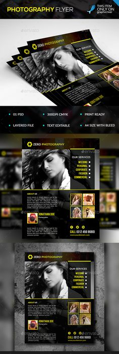 Photography Flyer Template  Photography Flyer Flyer Template And
