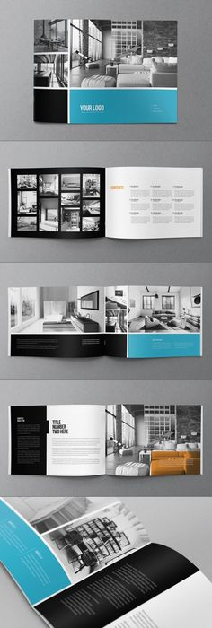 Minimal Colorful Brochure  Brochures Minimal And Behance