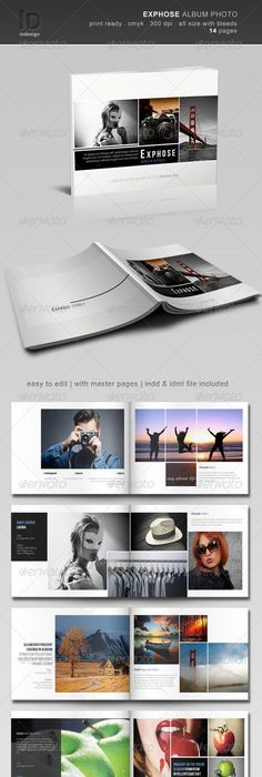 Indesign square photo book template | Template, Brochures and Book ...