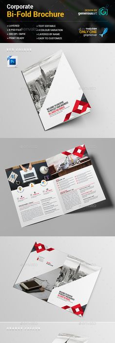 Corporate Trifold Square Brochure Template PSD Design Download - Brochure template photoshop