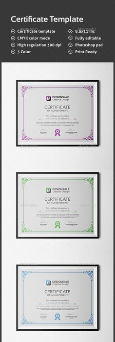 Certificate Template Us Tabloid Certificate Template Indesign Indd