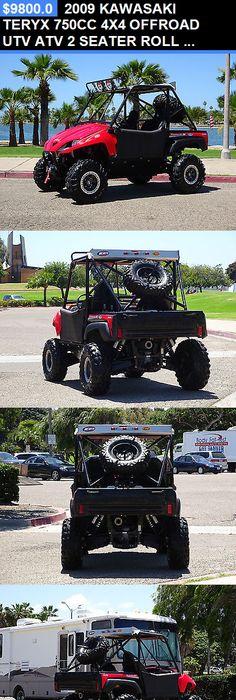Power Sports ATVs UTVs 2009 Kawasaki Teryx 750Cc 4X4 Offroad Utv Atv 2 Seater Roll & Kawasaki Teryx Back Seat and Roll Cage Kit | Products