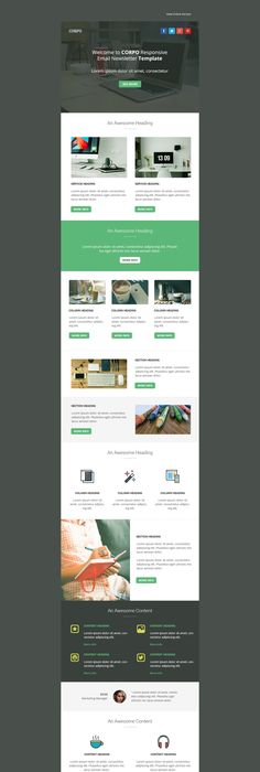 Green Village  Newsletter  Beautiful Email Newsletters  Design