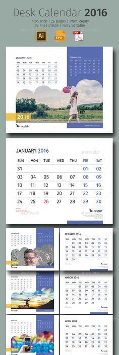Creative Desk Calendar 2018 V08 Desk Calendars Desks And Template
