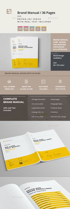Free Brand Manual Template  VfxfutureNet  Design