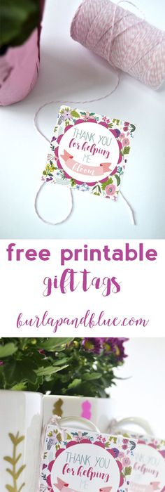 Creations by Kara: Free Printable Thank You Tags | DIY ...