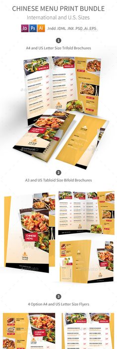 Restaurant Menu | Menu templates, Restaurant menu template and Print ...