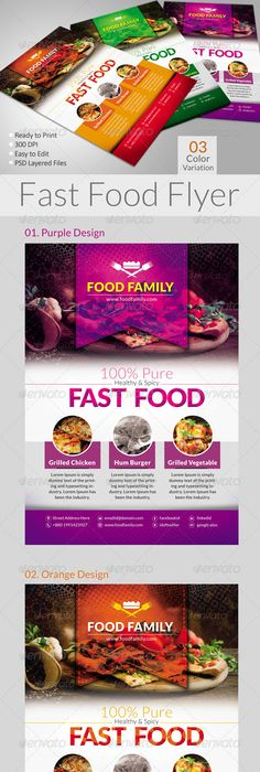 Fast Food Flyer Menu Restaurant A  Flyer    Menu