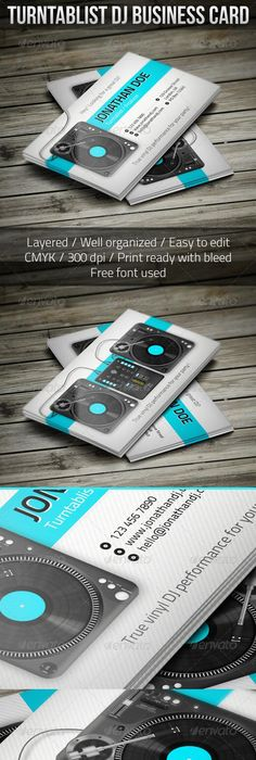 18+ DJ Business Cards \u2013 Free PSD, EPS, AI, InDesign, Word, PDF