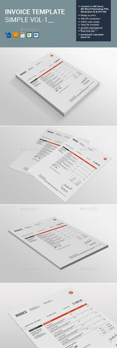 Invoice   Estimate Template   Template  Business and Proposal templates