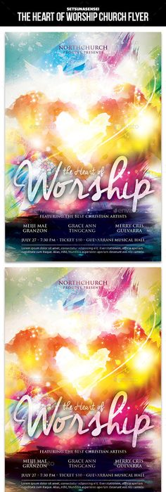 Praise And Worship  Church Flyer  Flyer Template Template And