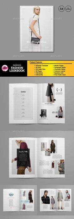 black adidas shoes lookbook template indesign free 593146