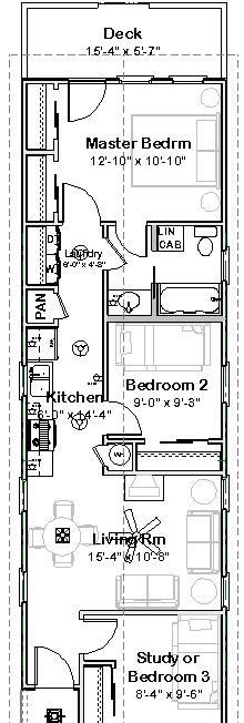 floor plan for previous design - 672sf | tiny houses | pinterest