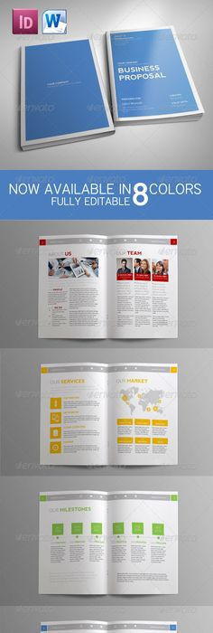 Project Proposal Template By Fahmie On Creativemarket Webdesign