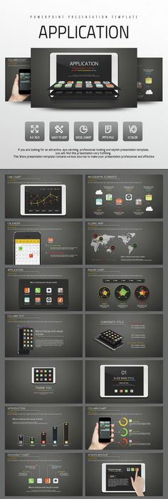 4in1 glod infographics PowerPoint Template