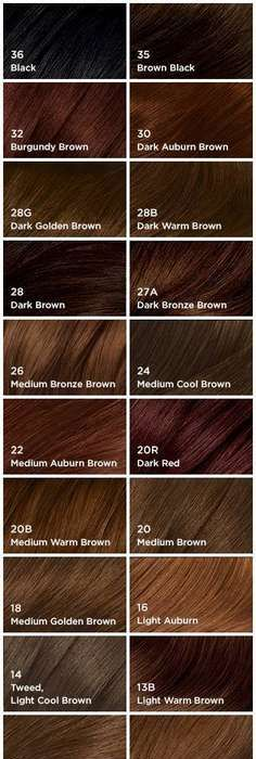 Fall in love with hair color chart colour chart hair coloring