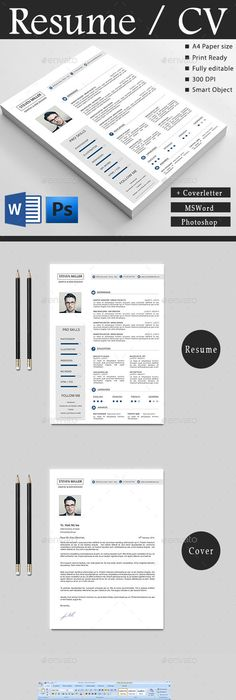 Simple Attractive Cv  Modern Resume Template And Psd Templates