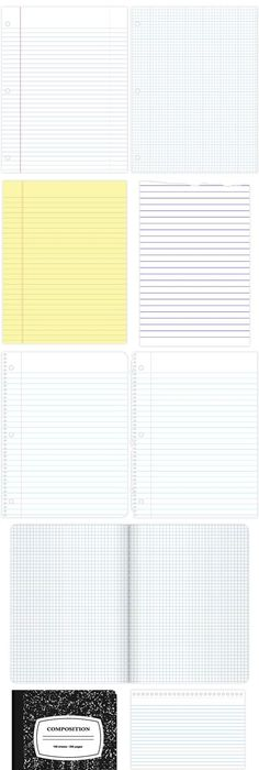 Free Printable Lined Notebook Paper  Free Printable Journal And