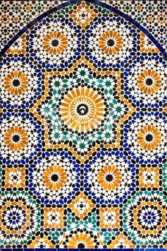 Arabic mosaic inside of The Ali Ben Youssef Madrassa. The Ben Youssef Madrassa was an Islamic college in Marrakech, Morocco, North Africa. It is the largest Medrasa in all of...