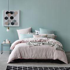 Parure de lit rose