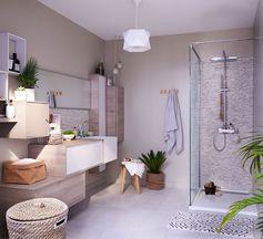 Une salle de bains aux couleurs naturelles pour laisser entre la nature