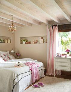 décoration de la chambre romantique en accents roses