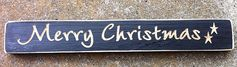 Primitive Country Engraved Merry Christmas by NannieandBCrafts, $4.95