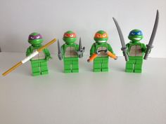 Lego ninja turtles for lego Duplo (ABS acetone smoothed) by cyrille.p #prusai3 #prusamini