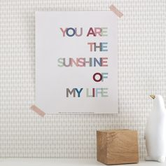 Affiche Sunshine l.24 x H.30 cm #leroymerlin #tendance #scandinave #affiche #poster #mood #ideedeco #madecoamoi #mur