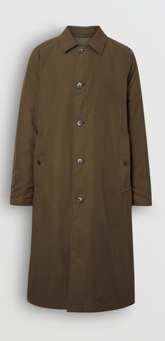 A #Burberry lightweight diamond-quilted car coat with a weatherproof tropical gabardine reverse