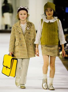 Bonpoint Winter 2017 Collection | While Dior and Chanel were incredible, THIS is the show that really got us talking. Bonpoint's clothes may be for kids, but we are petitioning to have them in adult sizes after this show.