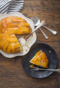 Peach Upside Down Cake - An Italian in my Kitchen