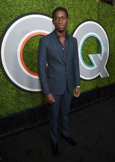 Actor Damson Idris wears Burberry tailoring to the GQ Men of the Year 2017 Awards in Los Angeles