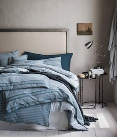 Mönstrat påslakanset | Gråblå/Vit | Home | H&M SE