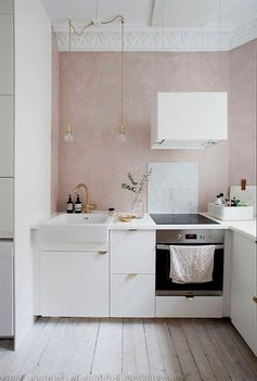 A LOVELY HOME WITH HINTS OF PINK IN NORWAY #interiorDesignKitchen