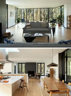Trees Surround This Modern Hillside House In Portland, Oregon